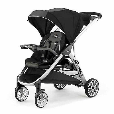 Chicco Bravo For2 Double Stroller Infant Toddler Sit and Stand Boys Girls