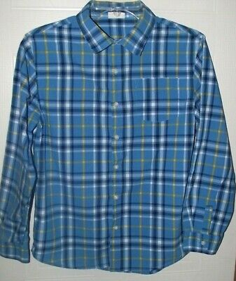 Boys Blue And Yellow Plaid Button Down Shirt By Crazy 8 Size Xl 14