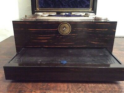 Antique Coromandel Traveling Vanity Box