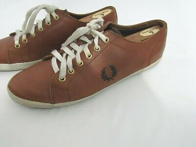 Brown Fred Perry Men/'s Vernon Mid Leather Shoes Trainers B7447-325