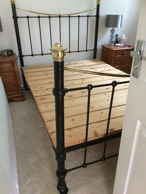 Solid Brass And Cast Iron Bed