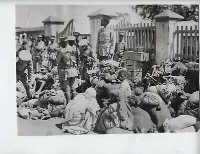 1935 Ethiopia Italy war vintage photo fascist Addis Ababa Mussolini invasion X