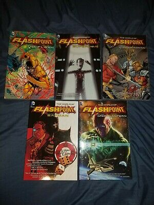 The Flash World of Flashpoint Graphic Novel Trade Paperbacks Set All 5 Good Cond