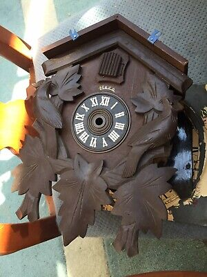 "Vintage Heco Black Forest Cuckoo Clock Case Very Good 11"" By 8"""