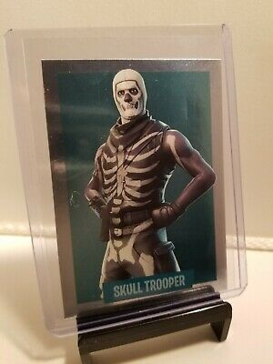 2019 Panini Fortnite Series 1 SKULL TROOPER Foil Card #335 STICKER with dent