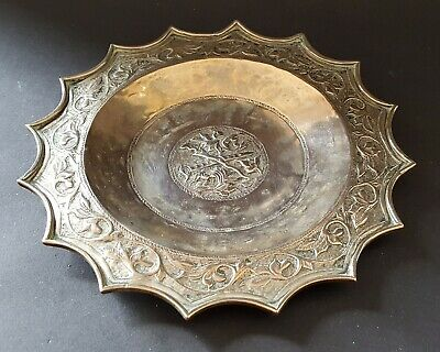Silver plate electroplate vintage Victorian antique small alms dish