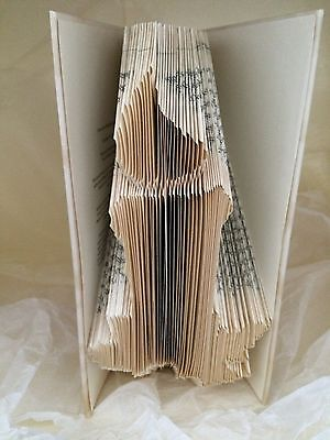 179 Folds Folded book art folding PATTERN Candle Christmas #077