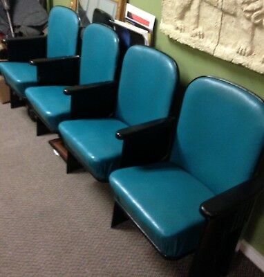 Antique Movie Theater Seats Art Deco CHAIRS Vintage Entertainment Peoria, Il
