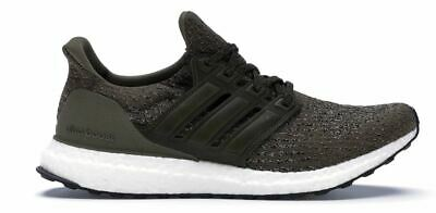 ADIDAS MEN'S OLIVE Green Ultra Boost 3.0 Running Shoes Size