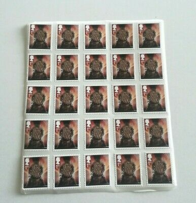 100 x 1st Class Stamps Unfranked Off Paper, with gum Peel And Stick x100