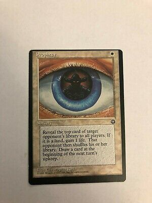Magic the Gathering Homelands Misprint Prophecy! One of a kind??? Free Shipping