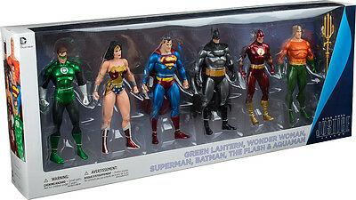 "JUSTICE LEAGUE - 7"" Action Figure 6-Pack Collector Set by DC Comics #NEW"