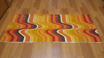 Awesome RARE Vintage Mid Century retro 70s Heals Frequency org wave fabric! WOW!