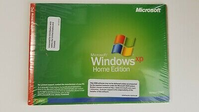 Microsoft Windows XP Home Edition OS Version 2002 SP2 CoA - New Sealed