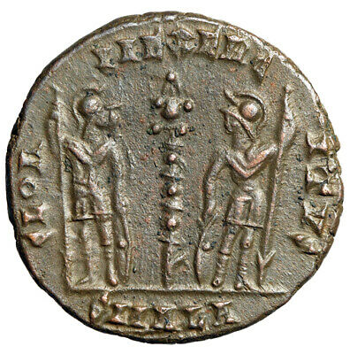 RARE Roman Soldiers Coin of Antioch, Constantine II Caesar RIC 66 HIGH QUALITY