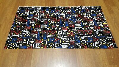 Awesome RARE Vintage Mid Century retro 70s 80s multi-color Haring like fabric!