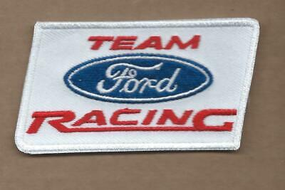New 1 7/8 X 3 3/8 Inch Ford Racing Team Iron On Patch Free Shipping P1