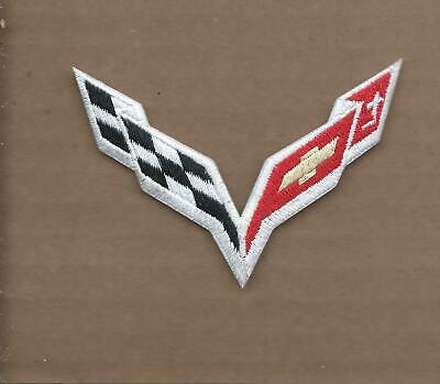New 2 3/4 X 3 1/2 Inch Corvette Iron On Patch Free Shipping P1