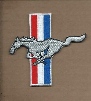 New 3 1/4 X 3 1/2 Inch Ford Mustang Die Cut Iron On Patch Free Shipping P1