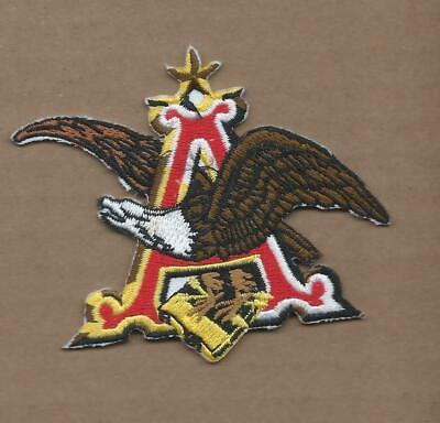 New 3 1/8 X 3 3/4 Inch Anheuser Busch Iron On Patch Free Shipping P1
