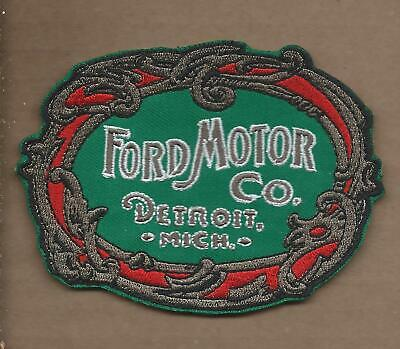 New 3 1/8 X 4 1/8 Inch Color Ford Motor Co Iron On Patch Free Shipping P1