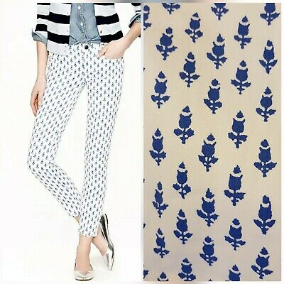 NWT J. Crew Womens Toothpick Ankle Skinny Jean In Thistle Print Size 26