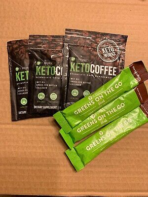 It Works Keto Coffee And Chocolate Greens On The Go.  3 Of Each.