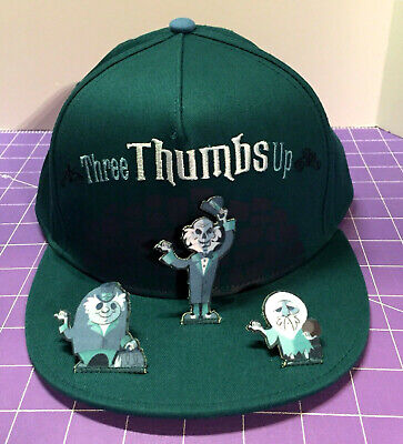 Disney Parks Haunted Mansion Hitchhiking Ghosts Three Thumbs Up Cap Hat Adult