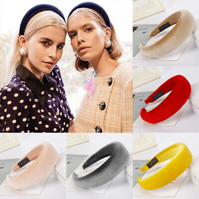Women Thick Sponge Headband Velvet Braid Wide Knot Head Hoop Hair Accessories