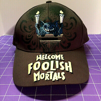 NWT Disney Parks Haunted Mansion Welcome Foolish Mortals Glow Dark Cap Hat Youth