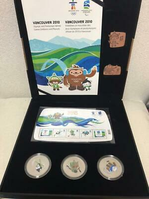 Vancouver Olympic 16000 limited rare coin, stamp, pin badge set