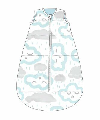 sleeping bag No Arms Cotton 18-36M 1.0 TOG CLOUDS PEPPERMINT