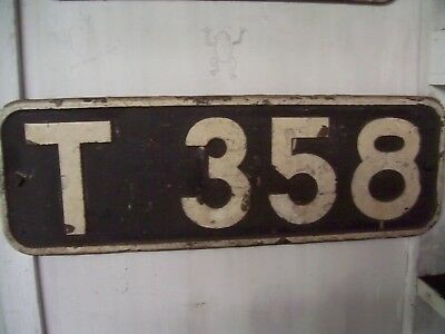 Vr. Diesel T 358 Brass Number Plate , Original Off Loco , Unrestored .