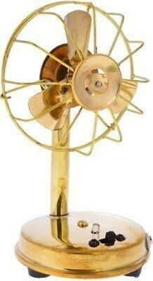 Metal Antique Fan Handcraft For Home Decor 10 cm X 9 cm X 16.5 cm -200 Gram