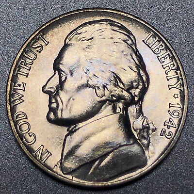 1944 P SILVER WAR NICKEL UNCIRCULATED LUSTER FREE SHIPPING **L@@K!