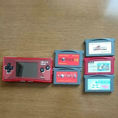 NINTENDO GAME BOY Micro Console MOTHER 3 + 5 game soft set Limited GBM From JP