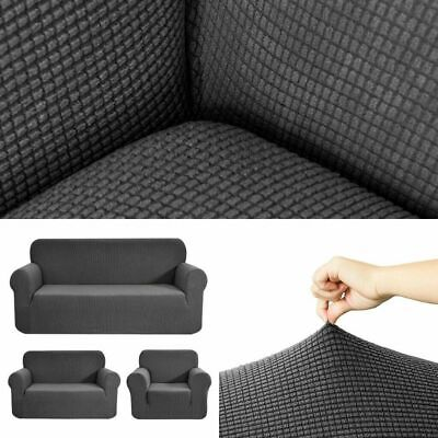 1-3 Seater Sofa Settee Covers Couch Slipcovers Stretch Elastic Fabric SofaCovers