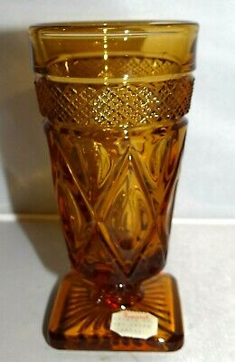Imperial Glass Ohio CAPE COD Amber Juice Glass Cup Pressed
