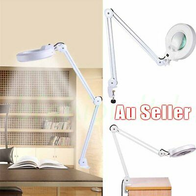 5Inch 5X LED Magnifying Lamp 220V Desk Light Magnifier w/ Clamp SMD Sydney Jv