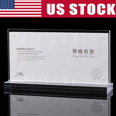 10X20cm Photo Bank Note Money Holder Acrylic Clear Currency Display Dollar Frame