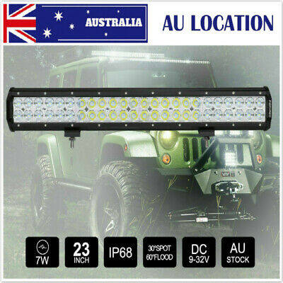 23 inch  CREE LED Light Bar Spot Flood Combo 4x4 Work Driving Off Road  for SUV