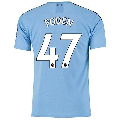 Mens Large Manchester City Home Shirt 2019-20 FREE Foden 47 &Badge MC5