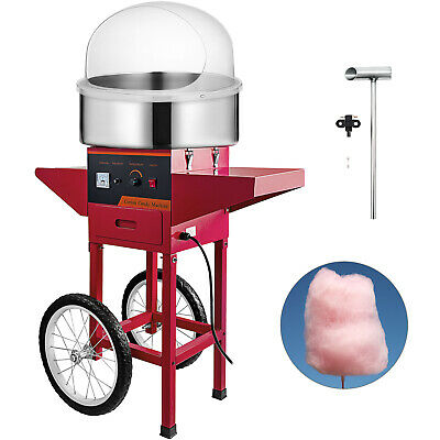 Cotton Candy Machine with Cart & Cover Sugar Making Party Floss Maker Store