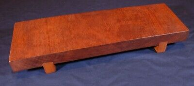 Japanese style wooden table for porcelain, ikebana or bonsai exhibition