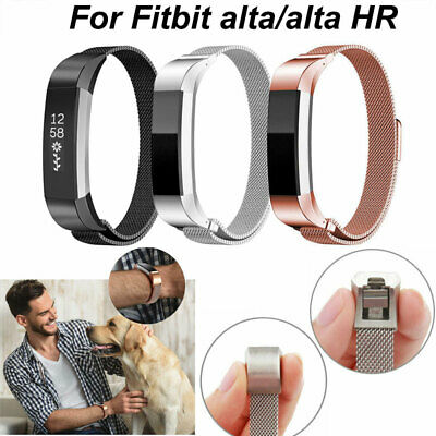 For Fitbit Alta/Alta HR Strap Magnetic Milanese Stainless Steel Metal Watch Band