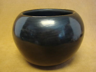 Santa Clara Indian Pottery Handmade by Birdell Vine Flower! Hand Coiled