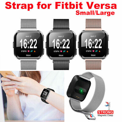 For Fitbit Versa Strap Stainless Steel Metal Milanese Watch band Wristband UK