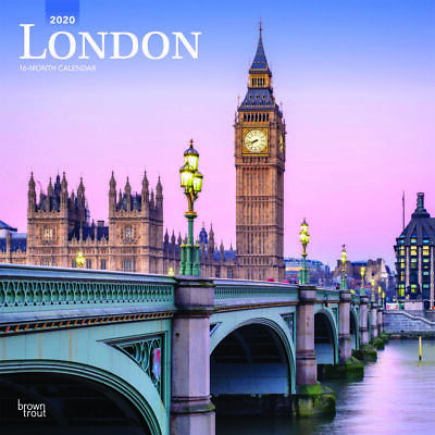 London 2020 Square Wall Calendar by Browntrout Free Post