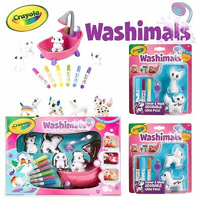Crayola Washimals Playset - Pets you can colour, rinse, wash and colour again!