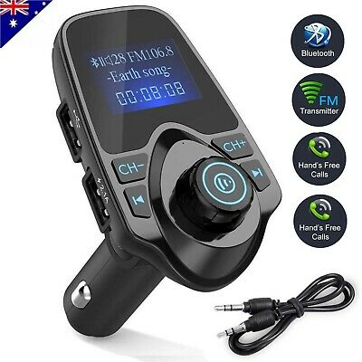 Bluetooth FM Transmitter Car Kit MP3 Player SD USB Charger For iPhone 7 8 X LD